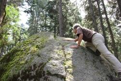 A little rock climbing.
